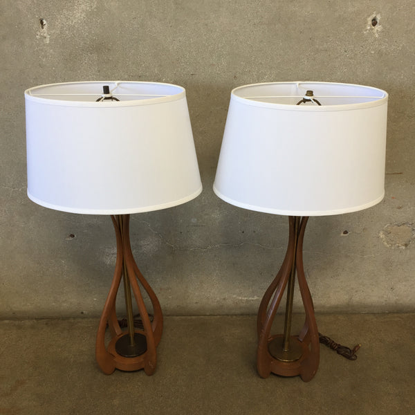 Pair of Mid Century Lamps by Modeline