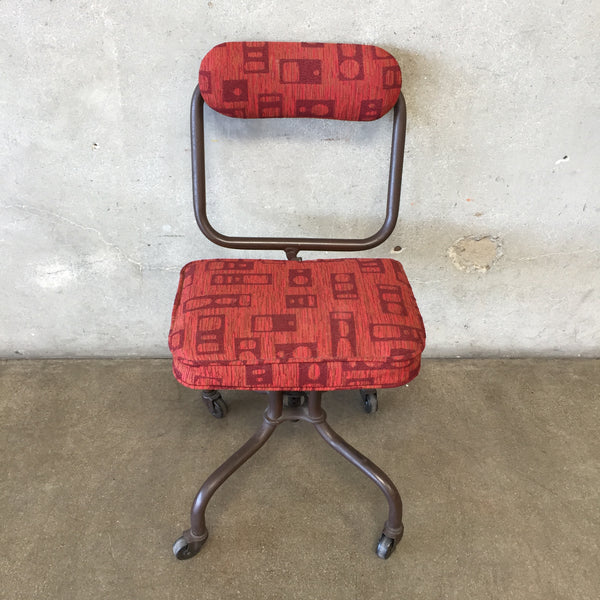 Vintage Upholstered Task Chair