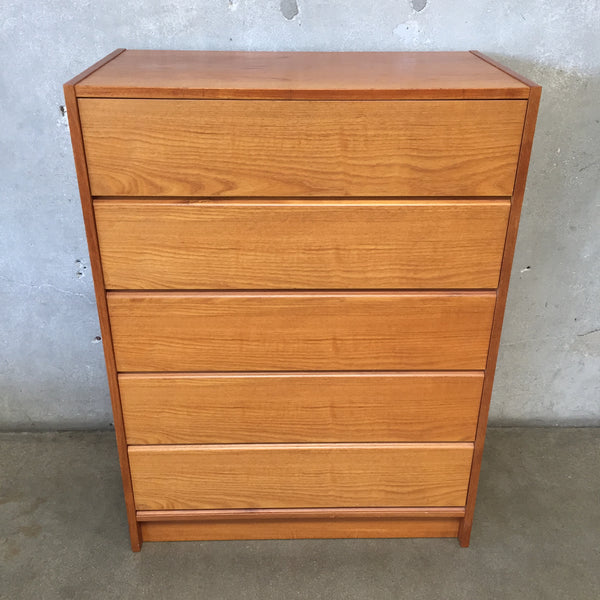 Danish Teak Five Drawer Dresser