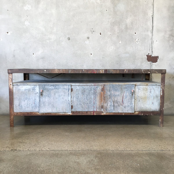 Vintage Industrial Console