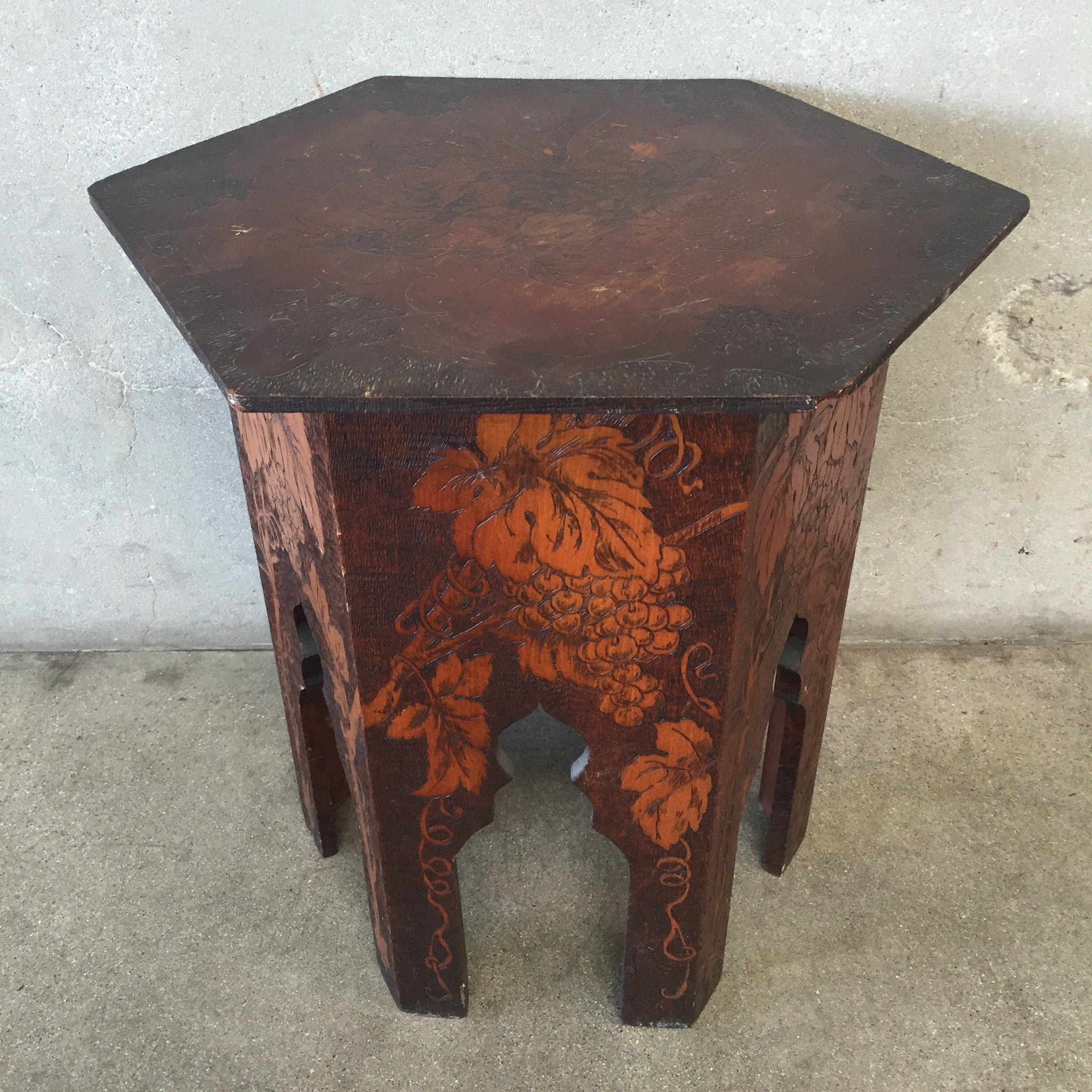 Pyrography Taboret Table Pyrography ...