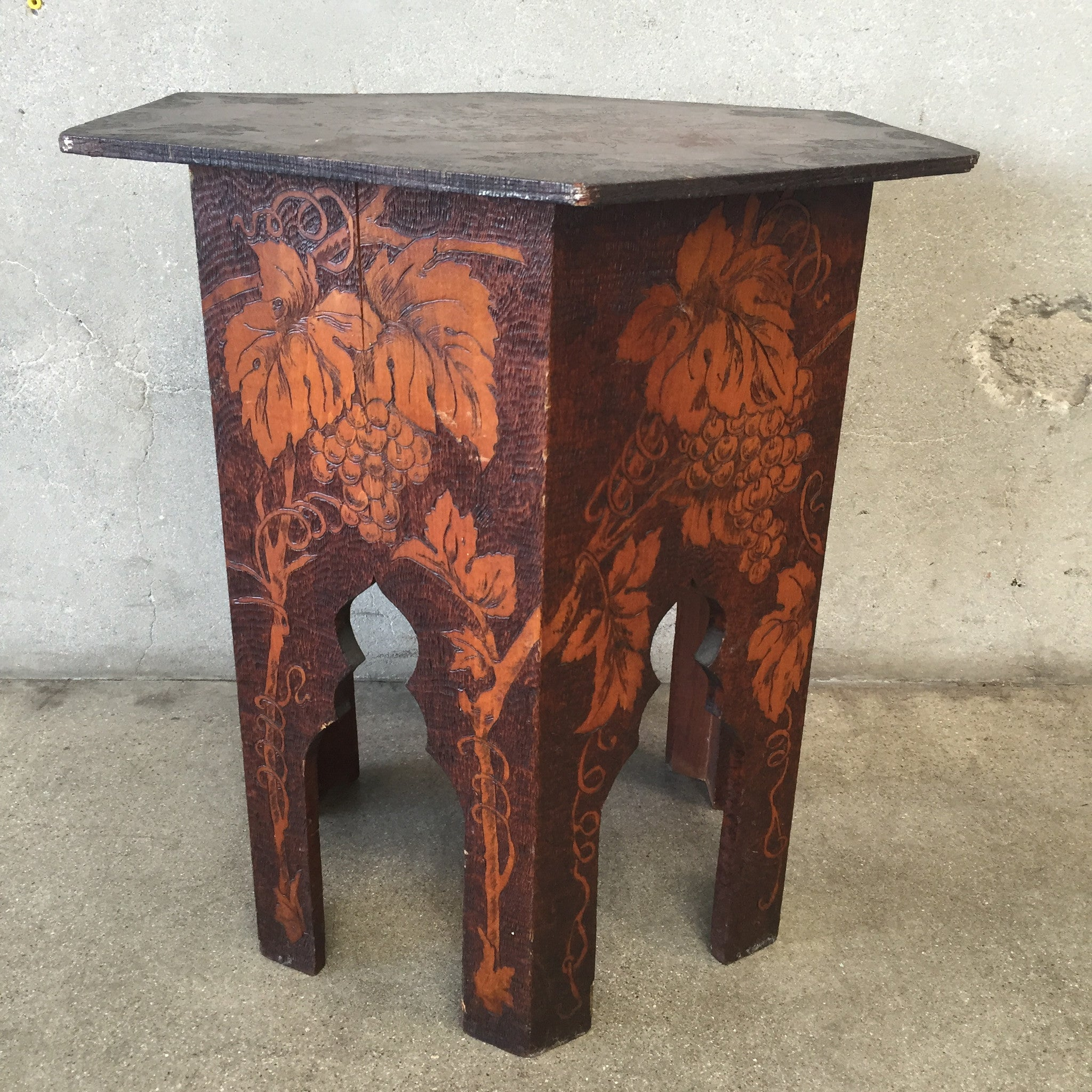 ... Pyrography Taboret Table ...