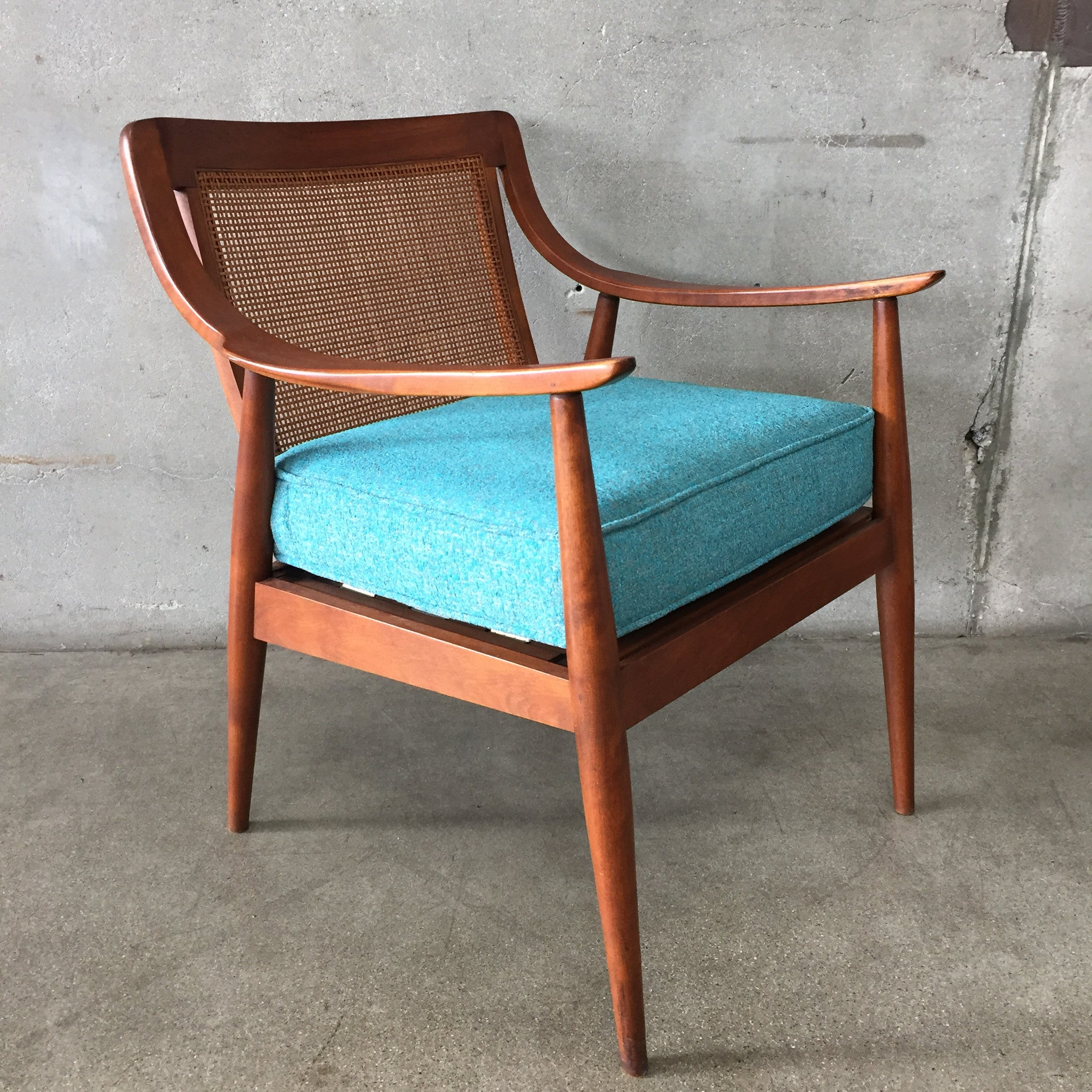 Mid Century Chair with Cane Back Seat – UrbanAmericana