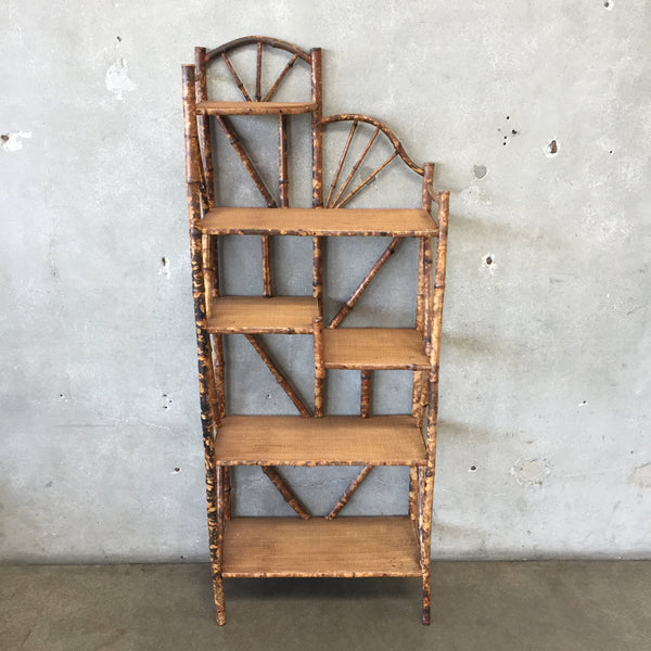Antique Bamboo Etagere