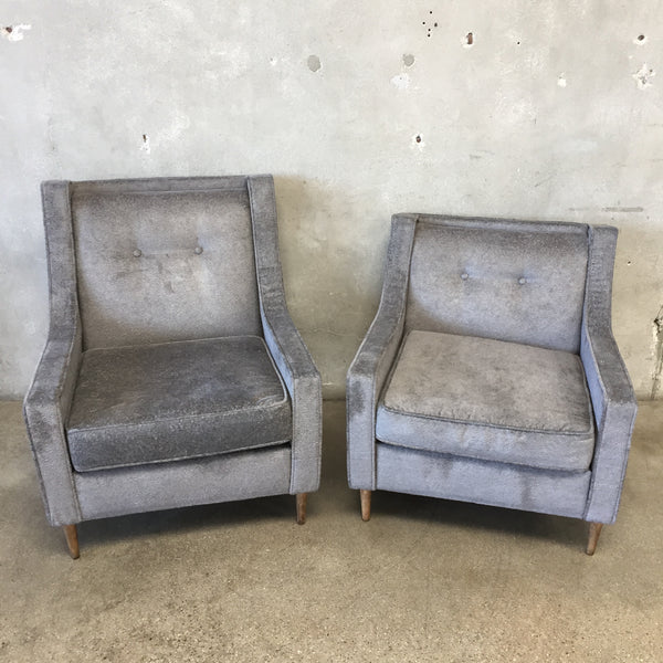 Mid Century His & Hers Lounge Chairs