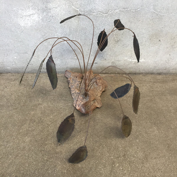 Brass Leaf Sculpture