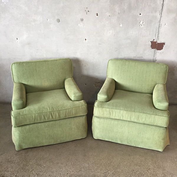 Pair of Vintage Corduroy Upholstered Chairs
