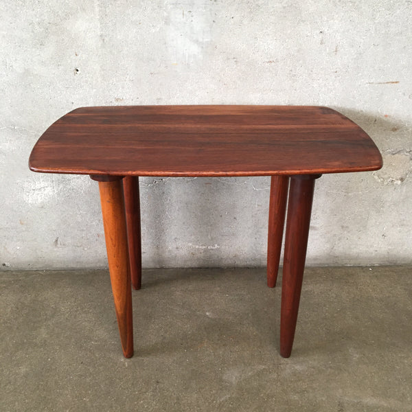 Mid Century Walnut Side Table by Prelude