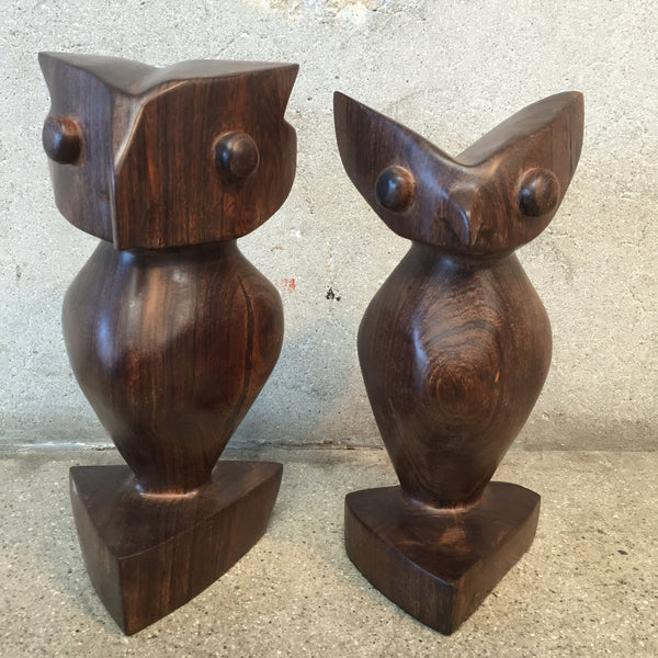 Iron Wood Owl Bookends
