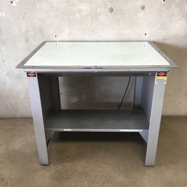 Vintage Nuarc Light Table / Printers Table