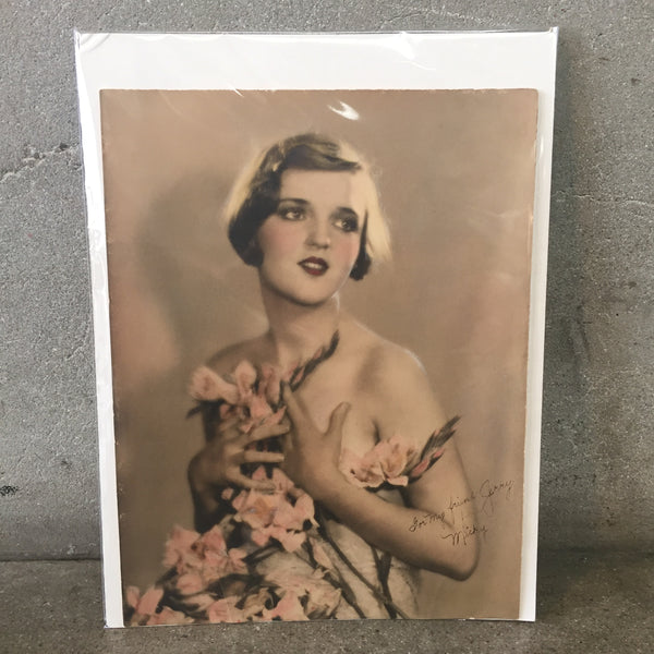 1920's Vintage Hand Tinted Photo
