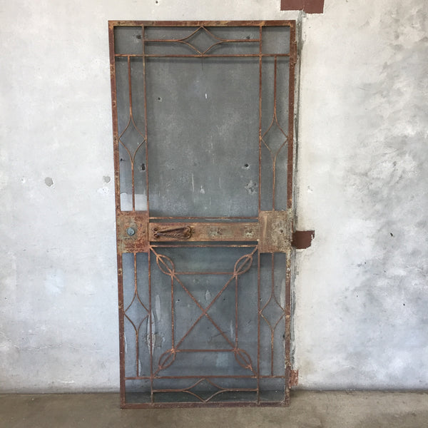 Heavy Wrought Iron Screen Door