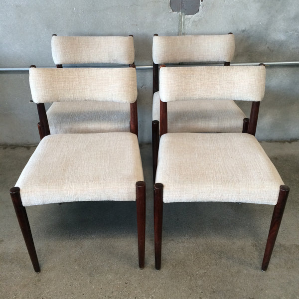 Set of 4 Rosewood Dining Chairs