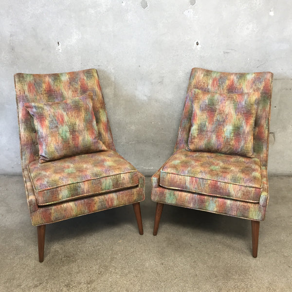 Pair of Mid Century Paul McCobb Slipper Chairs