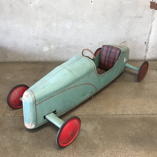 Vintage Soap Box Derby Car with Trophy