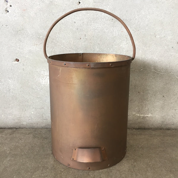 Heavy Duty Copper Bucket with Handle