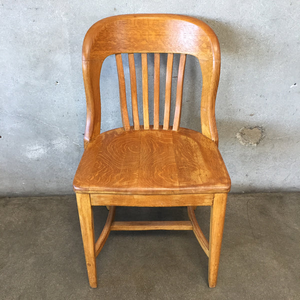 Vintage Oak Library Chair