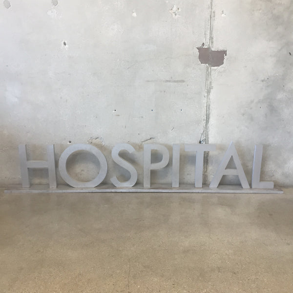 """Hospital"" Sign from The Set of Mercy Hospital"