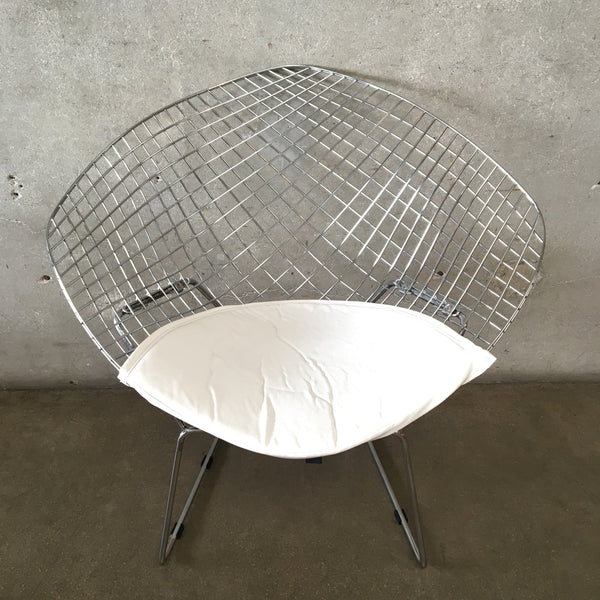 Chrome Herman Miller Style Diamond Chair