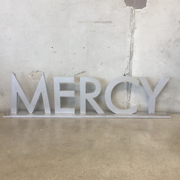 """Mercy"" Sign from The Set of Mercy Hospital"