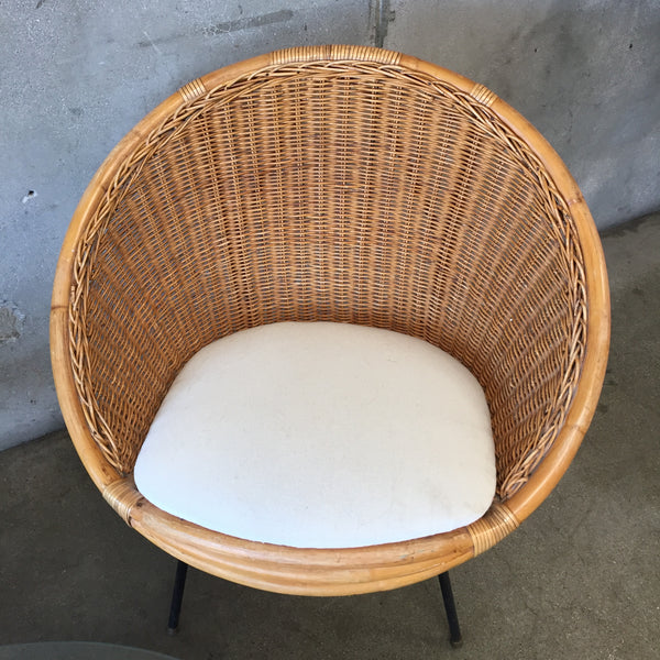 Vintage Rattan & Bamboo Chair Set