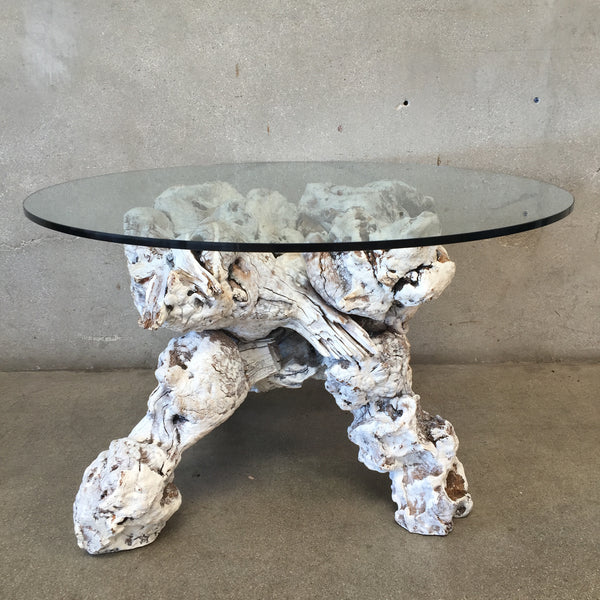 Burl Wood Mid Century Table