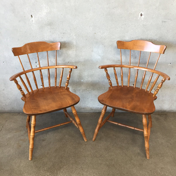 Set of Two Vintage Nichols & Stone Farmhouse Chairs