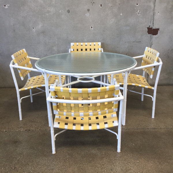 Brown Jordan Yellow Patio Dining Set