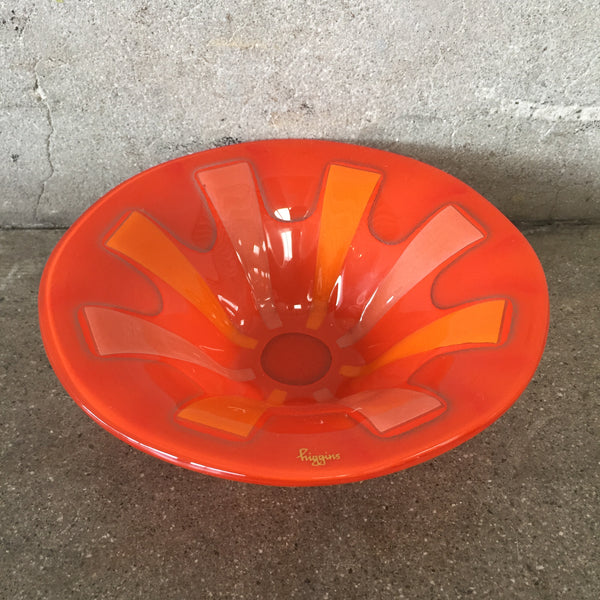 1960's Scandinavian Higgings Fused Glass Bowl