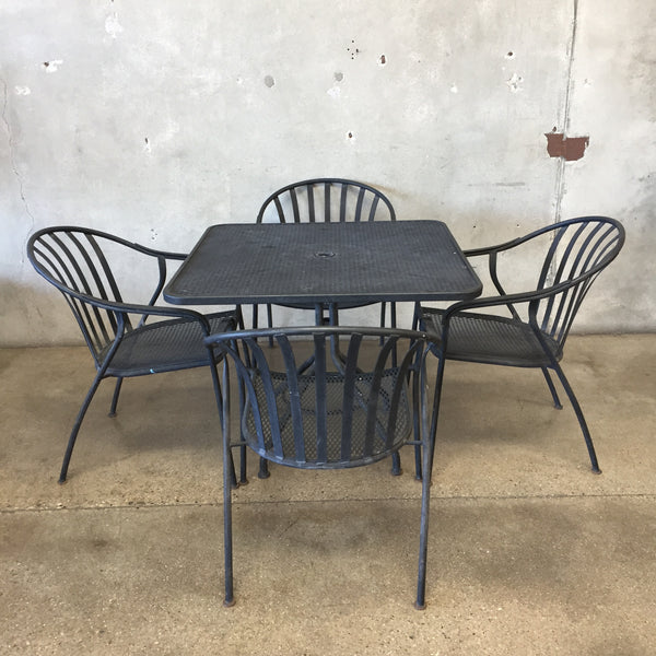 Black Vintage Patio Set