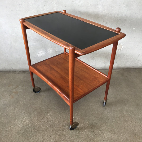 Mid Century Walnut Bar Cart by Arthur Umanoff
