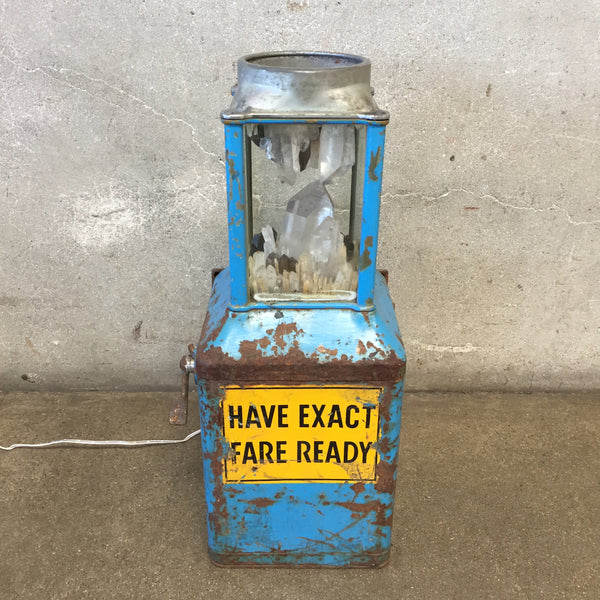 Vintage Repurposed Meter Industrial Lamp