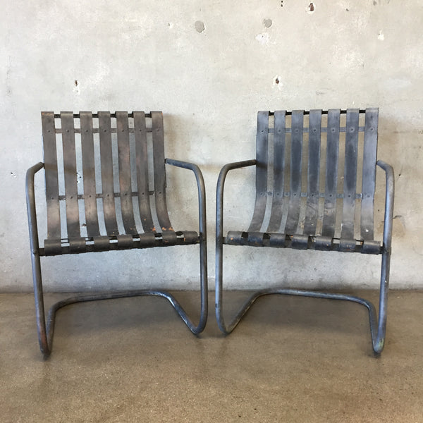 Pair of Antique Solid Metal Chairs
