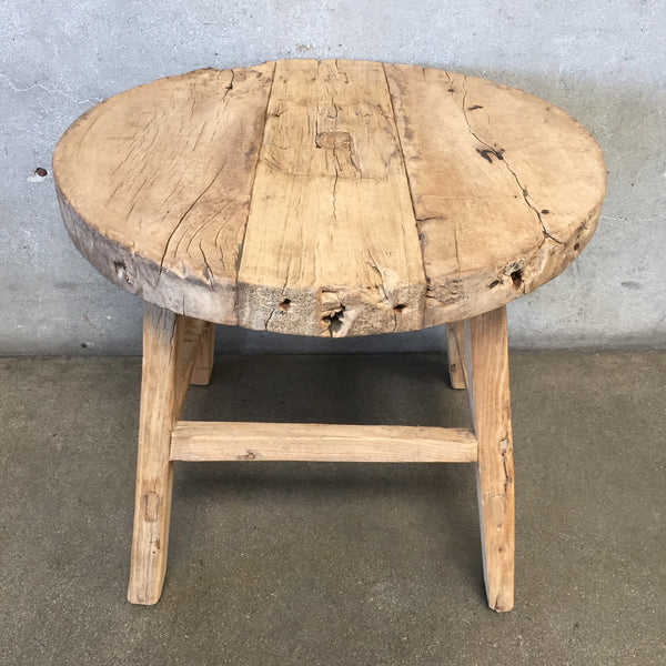 Rustic Elm Side Table