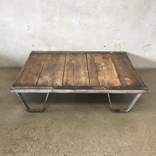 1920's Industrial Railroad Pallet Coffee Table