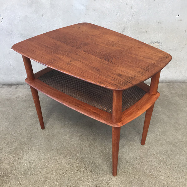 Vintage Mid Century Modern Teak Side Table by Peter Hvidt