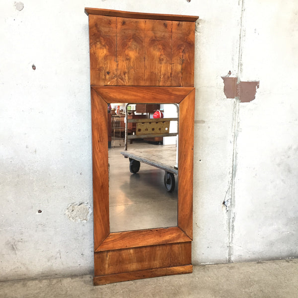 1900's Burled Wood Wall Mirror