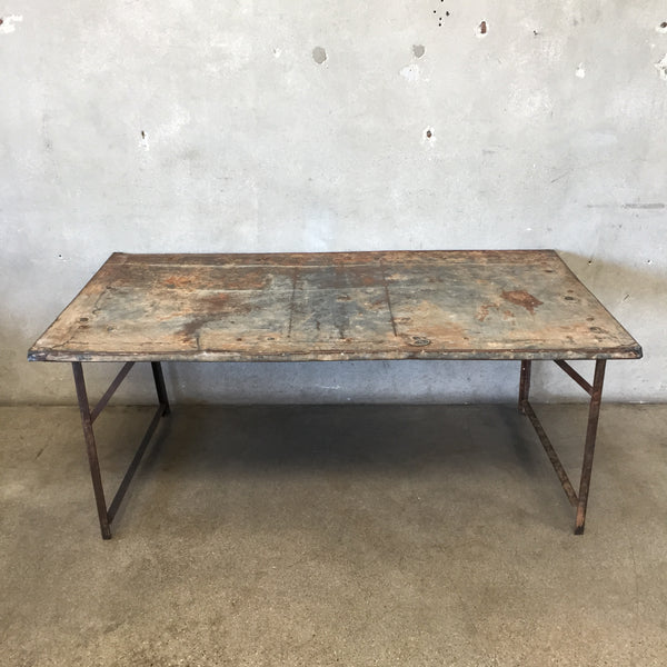 Vintage Metal European Display Table