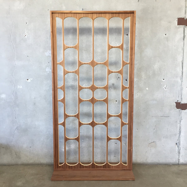 Mid Century Style Wood Privacy Screen
