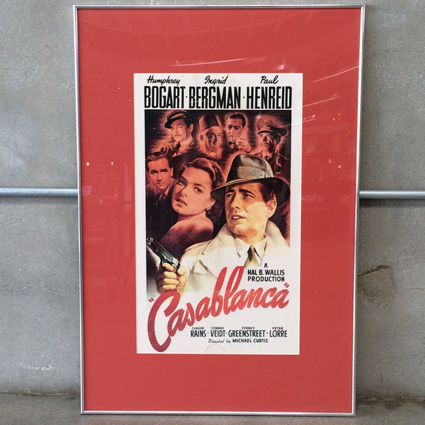 Framed Casablanca Movie Poster