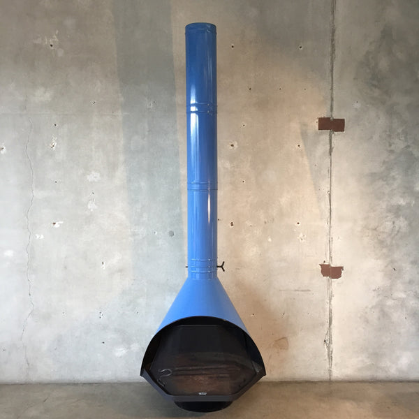 Vintage Mid Century Rare Blue Majestic Fire Hood Fireplace