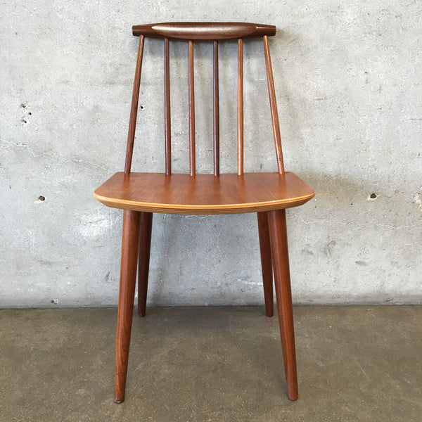 Danish Teak Folke Palssin Beech J77 Chair for FDB Mobler
