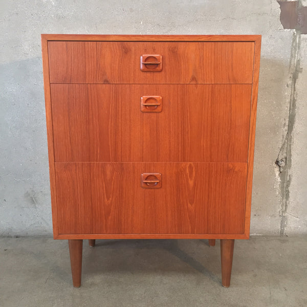 Mid Century Three Drawer End Table