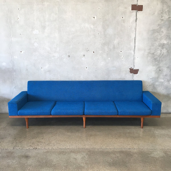 Danish Modern Teak Sofa by Illum Wikkelso Model 50-4