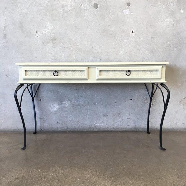 Console Table / Desk with Iron Legs