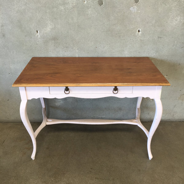 Vintage Pink One Drawer Desk Table