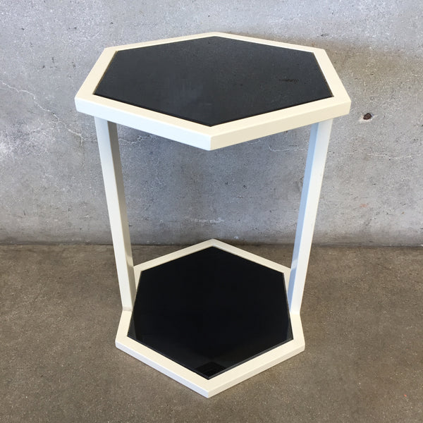 Metal & Black Side Table