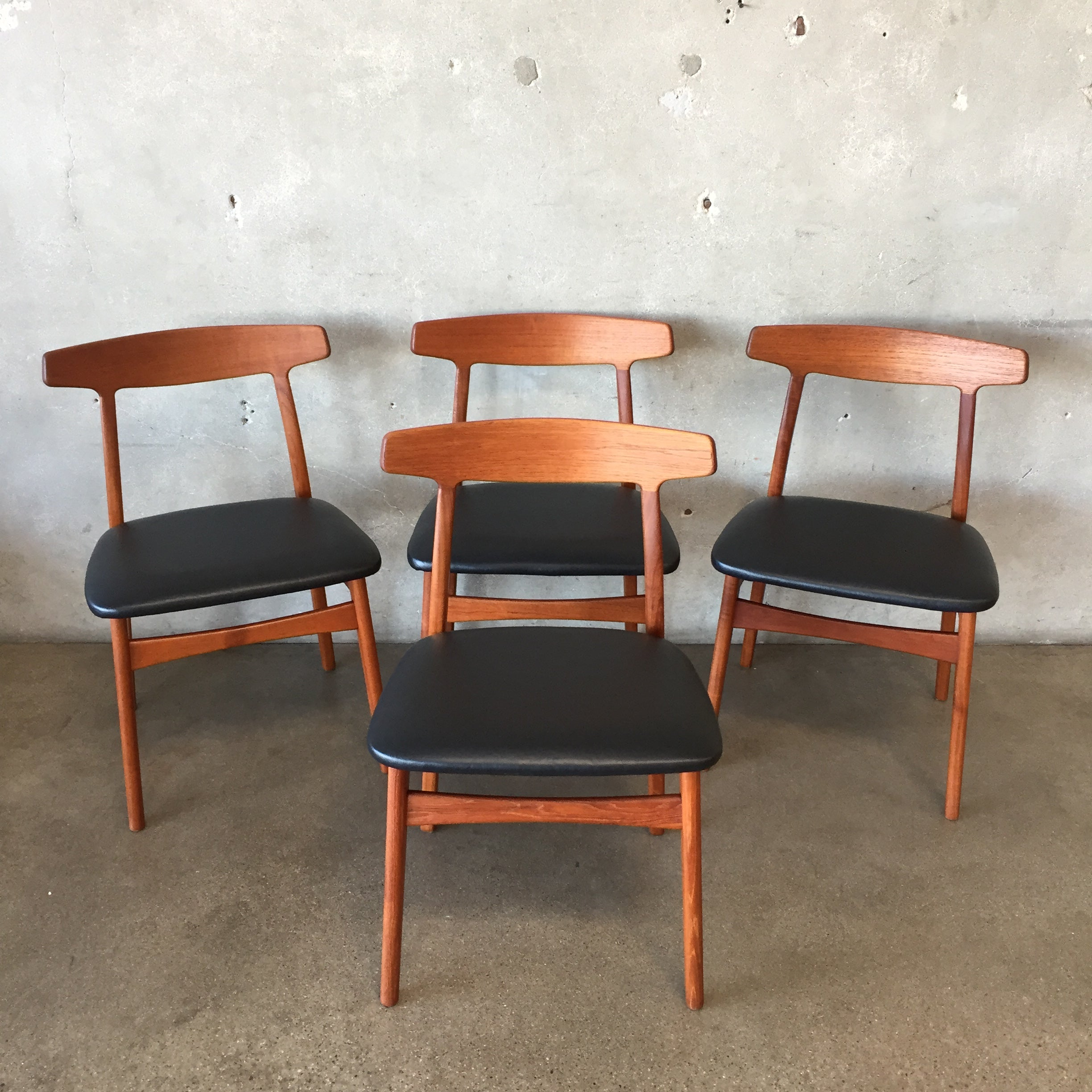 Swell Mid Century Modern Danish Modern Teak Dining Chairs Bralicious Painted Fabric Chair Ideas Braliciousco