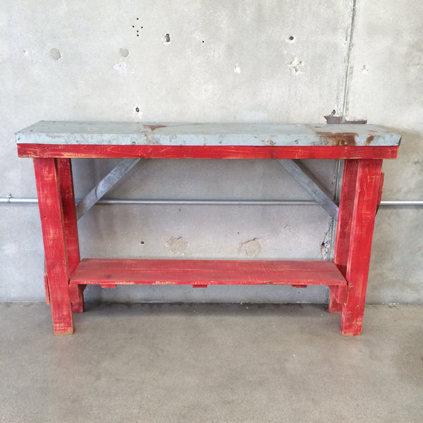 Metal Top Workbench