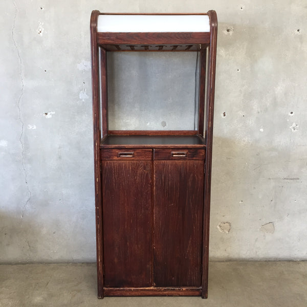 Vintage Oak Tall Bar